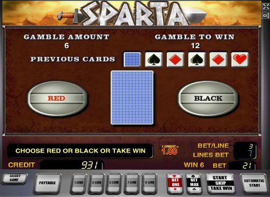 игрового автомата Спарта