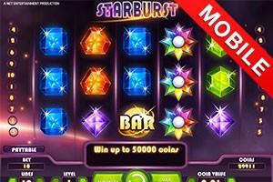 игровой автомат Starburst  mobile